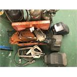 {LOT} Torch Masks, Leads, Tools, Clamps, Etc.
