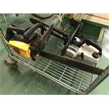 {LOT} (2) Craftsman Gas Powered Chain Saws & Table Saw