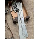 4 Galvanised gate hinges and hanging pins.