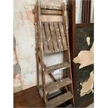 Vintage wooden stepladder together with a Bosch PFZ500E multi-tool.