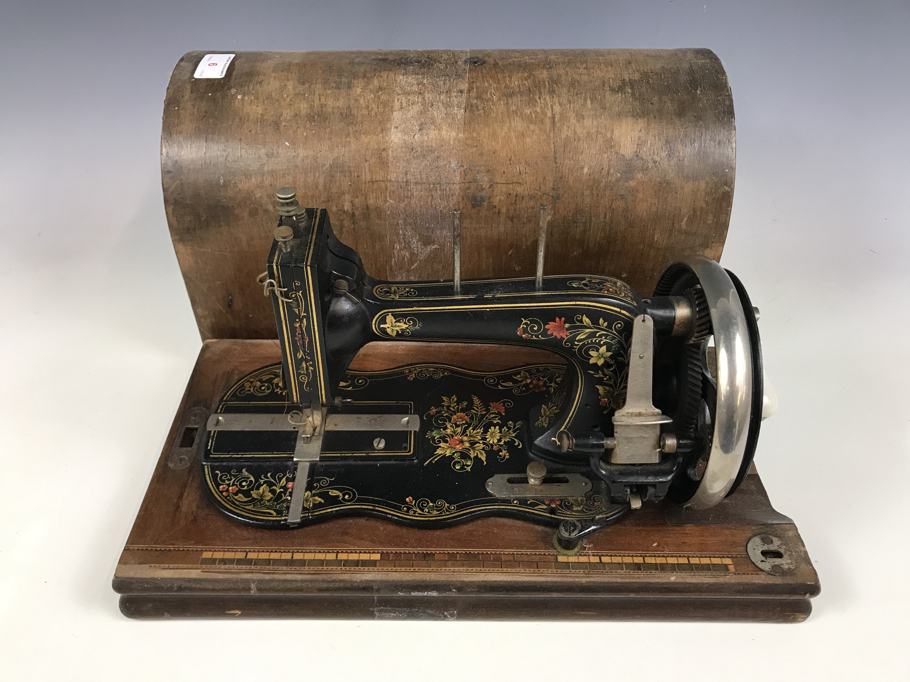 Lot 6 - A vintage sewing machine