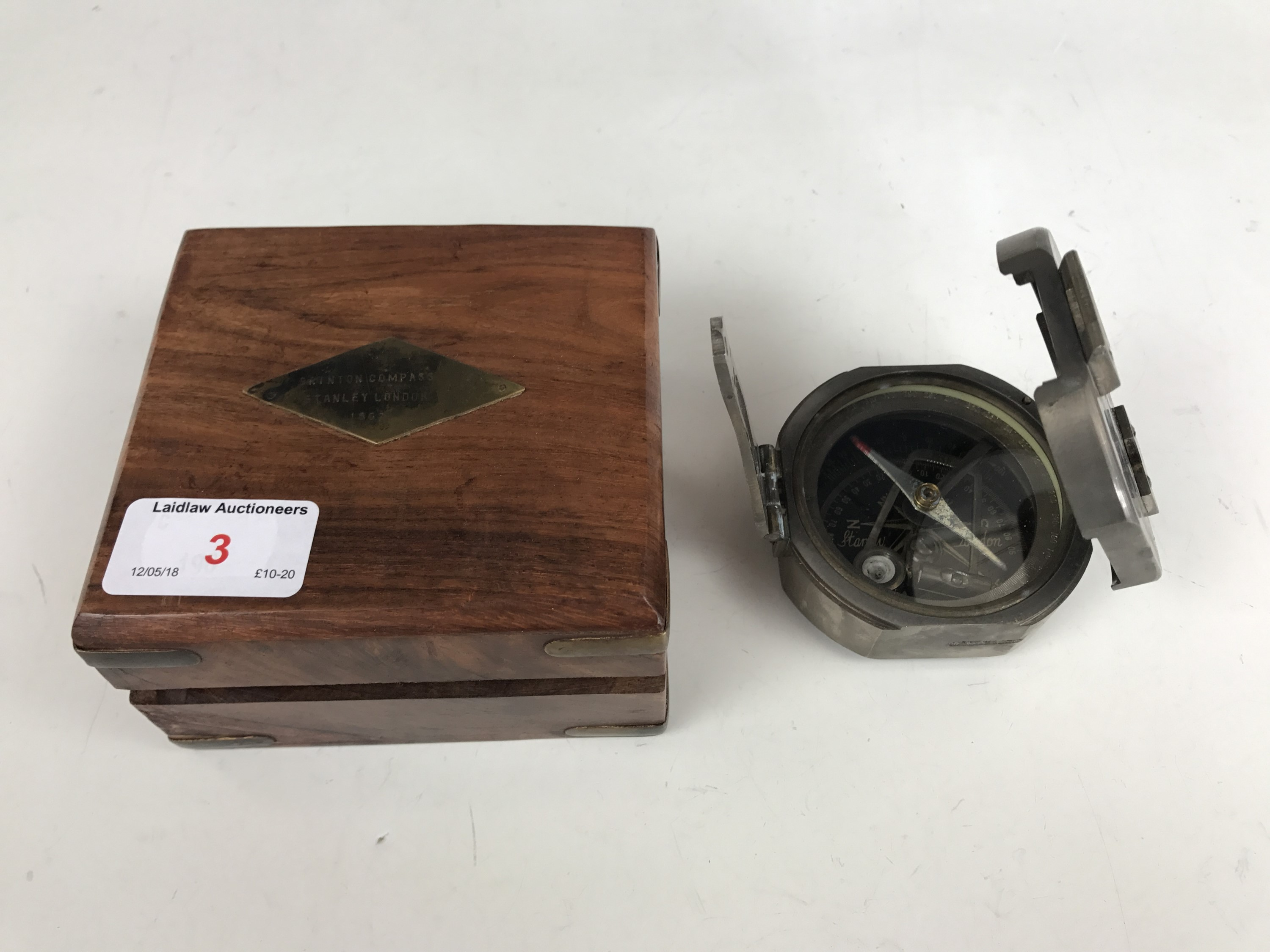 Lot 3 - A reproduction cased compass