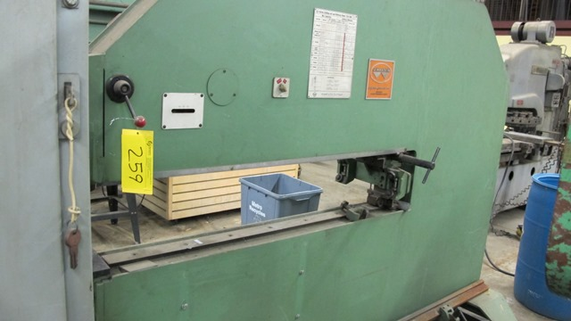 "Lot 259 - TRUMPF TAS 500 MECHANICAL NIBBLER, 60"" TREAT, S/N 589 WMFS"