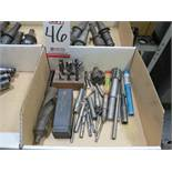 LOT - MISC MILLING CUTTERS, REAMERS, TAPS, ETC.