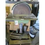 """20"""" PEDESTAL DISC GRINDER, 2 HP, 1730 RPM, 208-230/460V, 3 PHASE, 27-1/2"""" X 10-1/2"""" TILT TABLE,"""