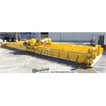 5 Ton x 39' Used 5 Ton Over Riding Double Girder Bridge Crane, Mdl. TRDG5-40, Pendant