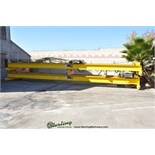 5 Ton x 39' Used Spacemaster Over Riding Double Girder Bridge Crane, Mdl. Job#S-13162,