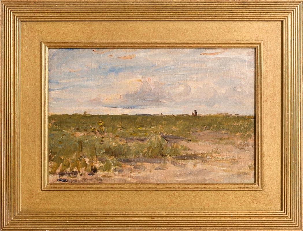 Lot 28 - Nathaniel Hone RHA (1831-1917) Across the Bent