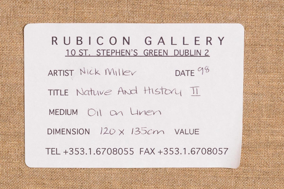 Lot 55 - Nick Miller (b.1962) Nature and History II (1998)