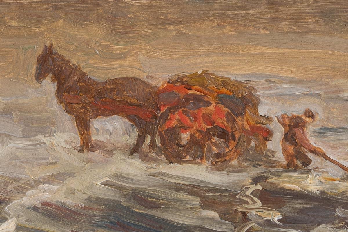Lot 30 - Jack Butler Yeats RHA (1871-1957) Gathering Seaweed, Mayo Coast (1909)