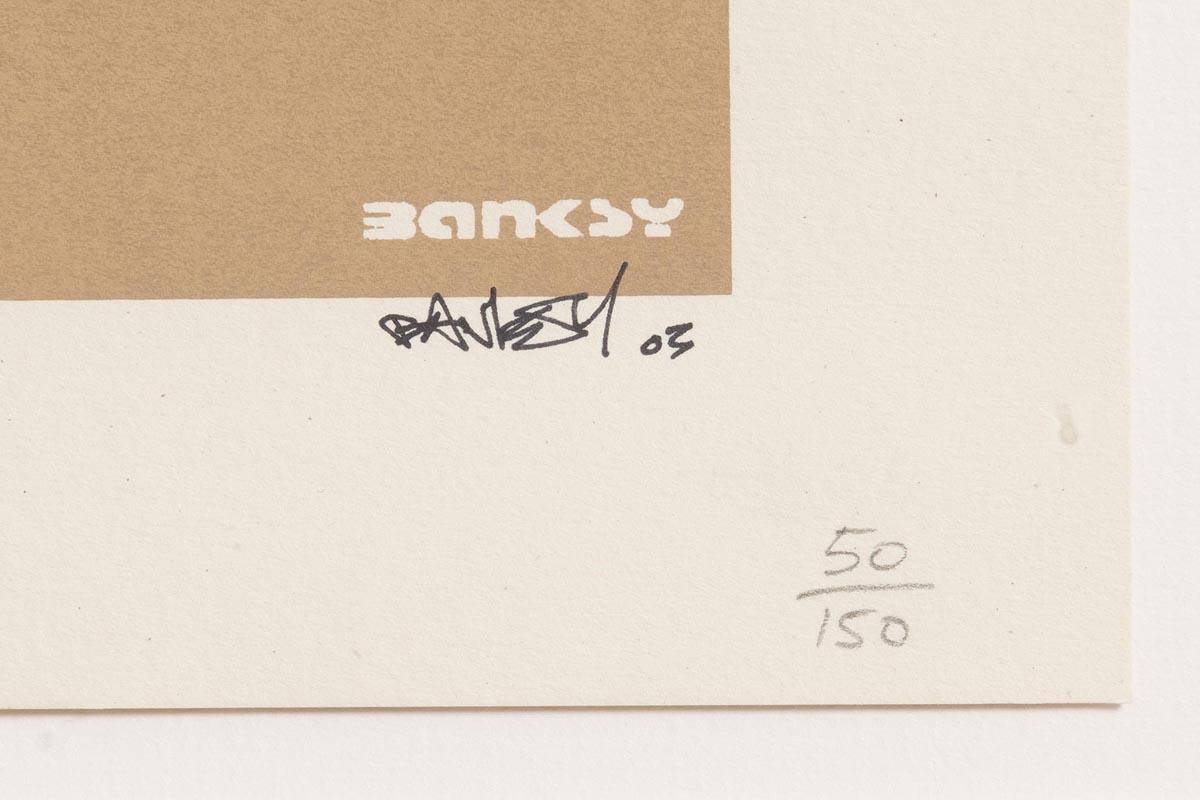 Lot 43 - Banksy (1975) Laugh Now 2003