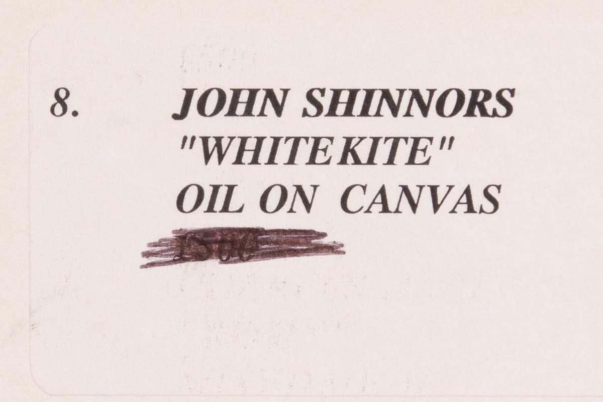 Lot 39 - John Shinnors (b.1950) White Kite
