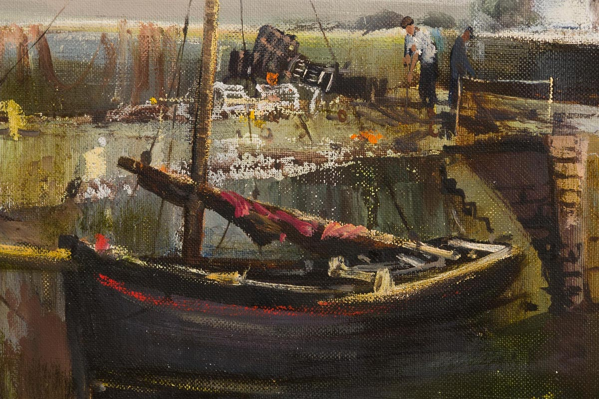Lot 13 - Kenneth Webb RWA FRSA RUA (b.1927) Roundstone Harbour