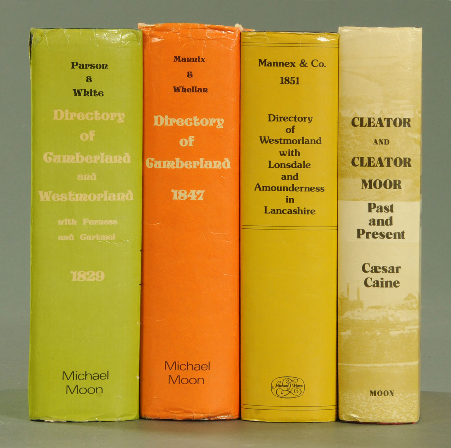 "Lot 60 - Four Michael Moon directory publications, ""Directory of Cumberland & Westmorland for 1829"","