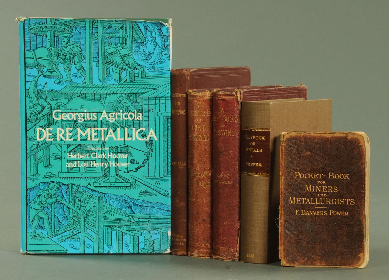 Lot 51 - Six books on mines, surveying, assaying,