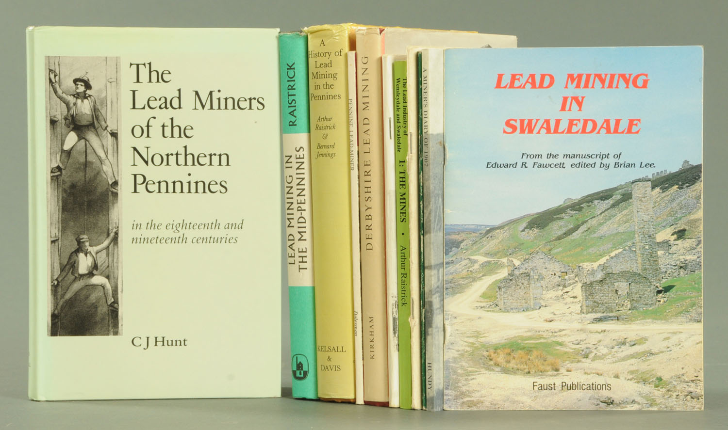 "Lot 41 - Eleven volumes on lead mining in the Pennines, ""The Lead Miners of Northern Pennines"" by C.J."