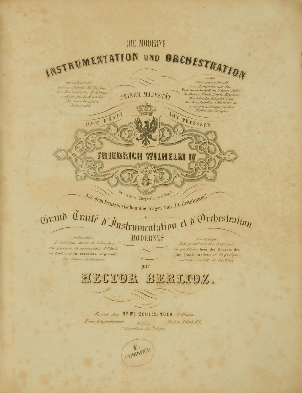 """Lot 29 - """"Die Moderne Instrumentation Und Orchestration,"""