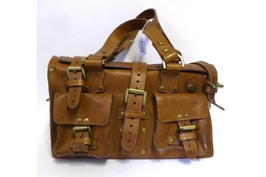 ... spain mulberry roxanne tan leather shoulder bag with two buckled front  e0771 6eedd 7abc631bb6