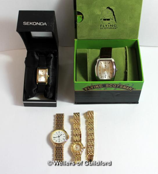 Lot 5038 - Selection of four mixed wristwatches