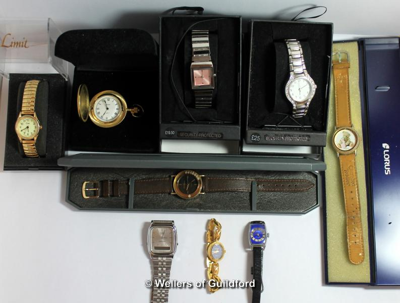 Lot 5033 - Selection of nine mixed wristwatches, including Casio, Sekonda, together with a Sekonda pocket