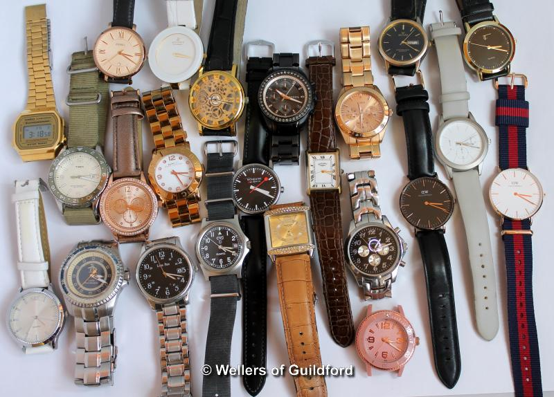 Lot 5012 - *Selection of twenty-two mixed wristwatches, including Marc Jacobs, Fossil, Rotary (Lot subject to