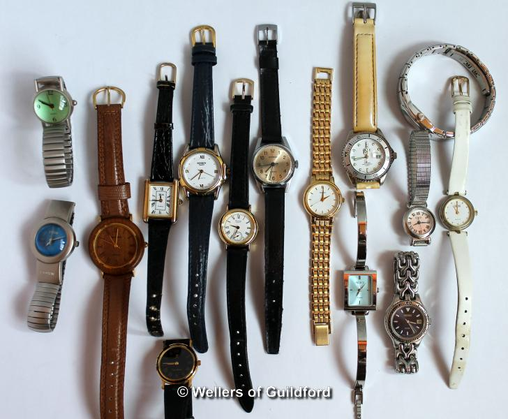 Lot 5030 - Selection of fifteen mixed wristwatches, including Seiko, Accurist