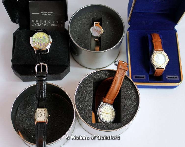 Lot 5031 - Selection of five boxed wristwatches