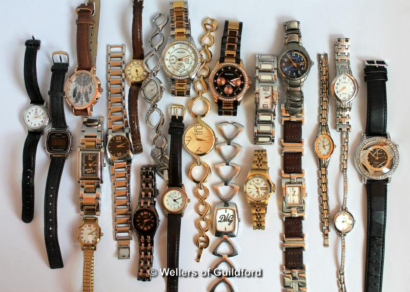 Lot 5011 - *Selection of twenty-two ladies' wristwatches, including Citizen, Sekonda, Casio (Lot subject to