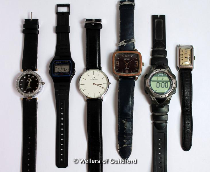 Lot 5039 - *Selection of six mixed wristwatches, including Casio (Lot subject to VAT)
