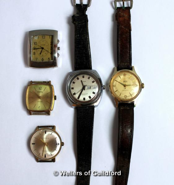 Lot 5036 - Selection of five vintage watches, three without straps