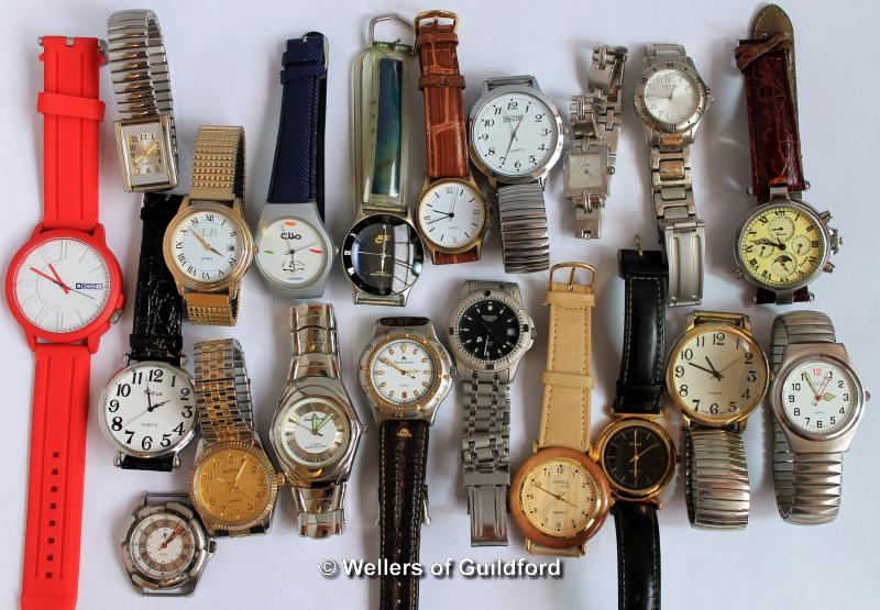 Lot 5035 - Selection of nineteen mixed wristwatches, and a watch face