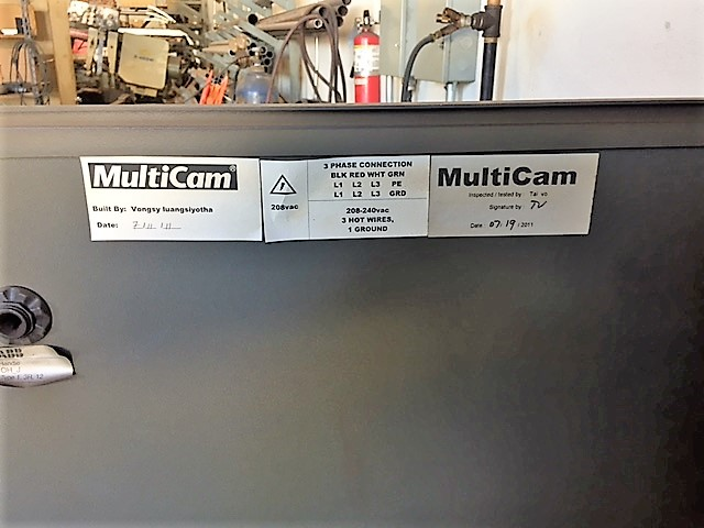 MultiCam 3204-P Series High Definition Plasma Cutter, S/N 3-204-P08431, New 2011 - Image 13 of 14