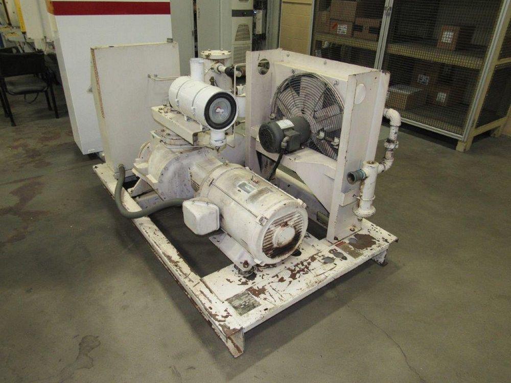 50 HP Gardner Denver Model ECHCJG Screw Type Air Compressor, Air Cooled - Image 3 of 5