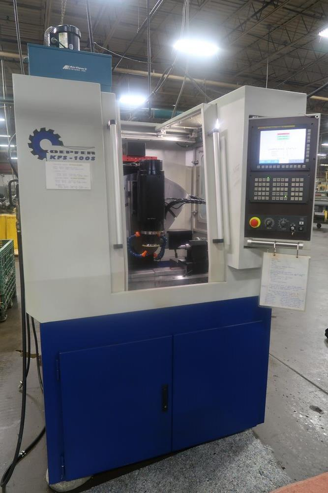 Koepfer KFS-100.5 CNC Hobb Sharpening Grinder, New 2019, S/N (approx. 100 Hours use)