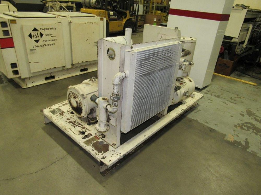 50 HP Gardner Denver Model ECHCJG Screw Type Air Compressor, Air Cooled - Image 4 of 5