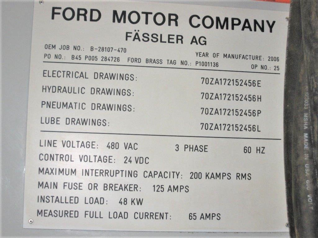 MODEL #K400D FASSLER CNC GEAR HONE SERIAL NO. 470 (2006) 46 HOURS ONLY - Image 14 of 32