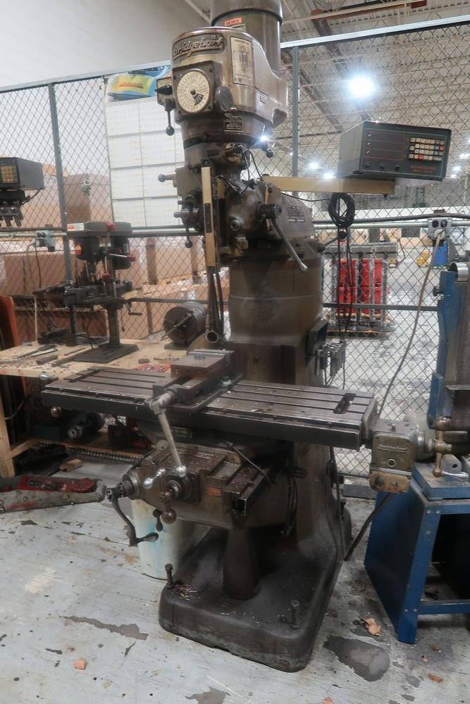 Lot 40 - Bridgeport Ram Type Vertical Mill 1 1/2 HP, S/N 127973
