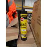 6x 300ml Tubes of Stanley Interoer and exterieor multi Purpose White Sealant, new