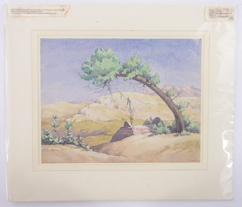 Lot 218 - Folder of watercolours including works by Albert Taylor, Ivor Johns, Hubert Finney, etc., (10).