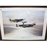 "After Robert Taylor, ""Memorial Flight"",colour print, graphite signed by pilots Johnnie Johnson and"