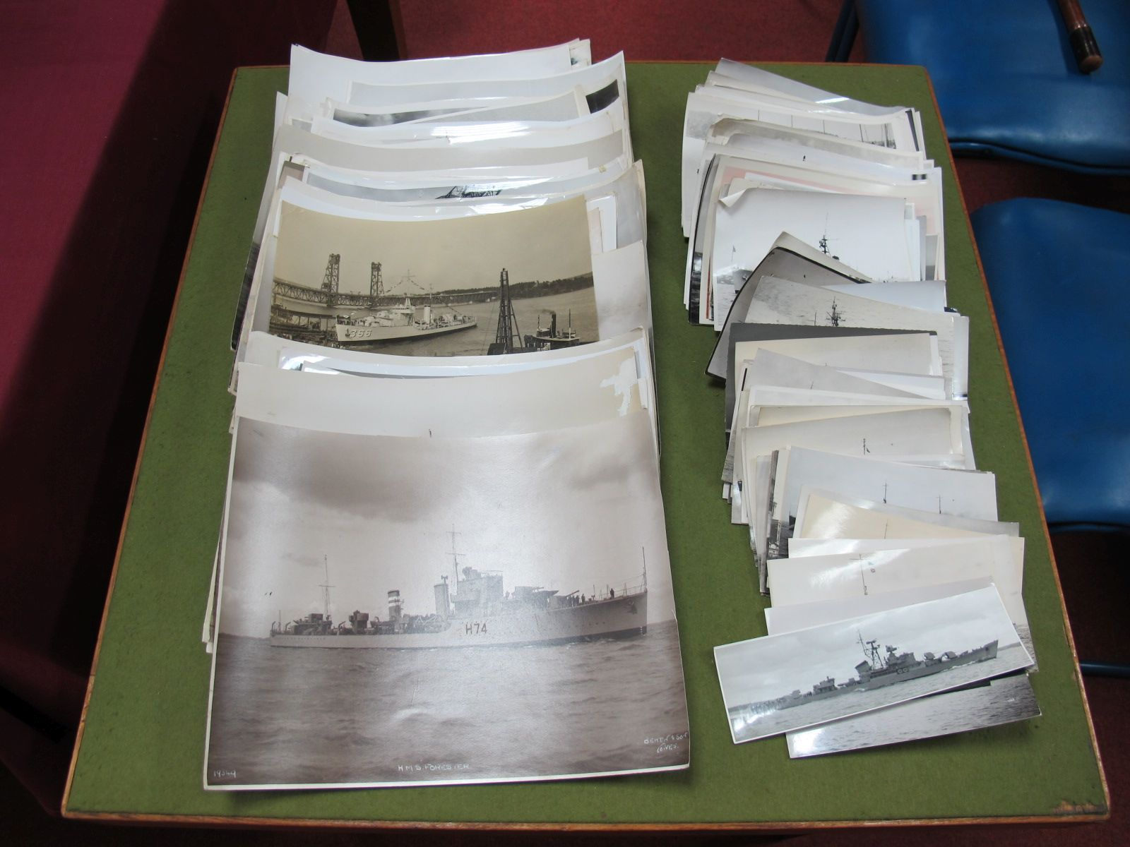 Lot 37 - A Large Quantity of Mid XX Century Often Official and Press Photographs of Naval Ships Around The
