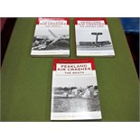 Peakland Air Crashes by Pat Cunningham, three volumes in paperwork format, The North, The South, The
