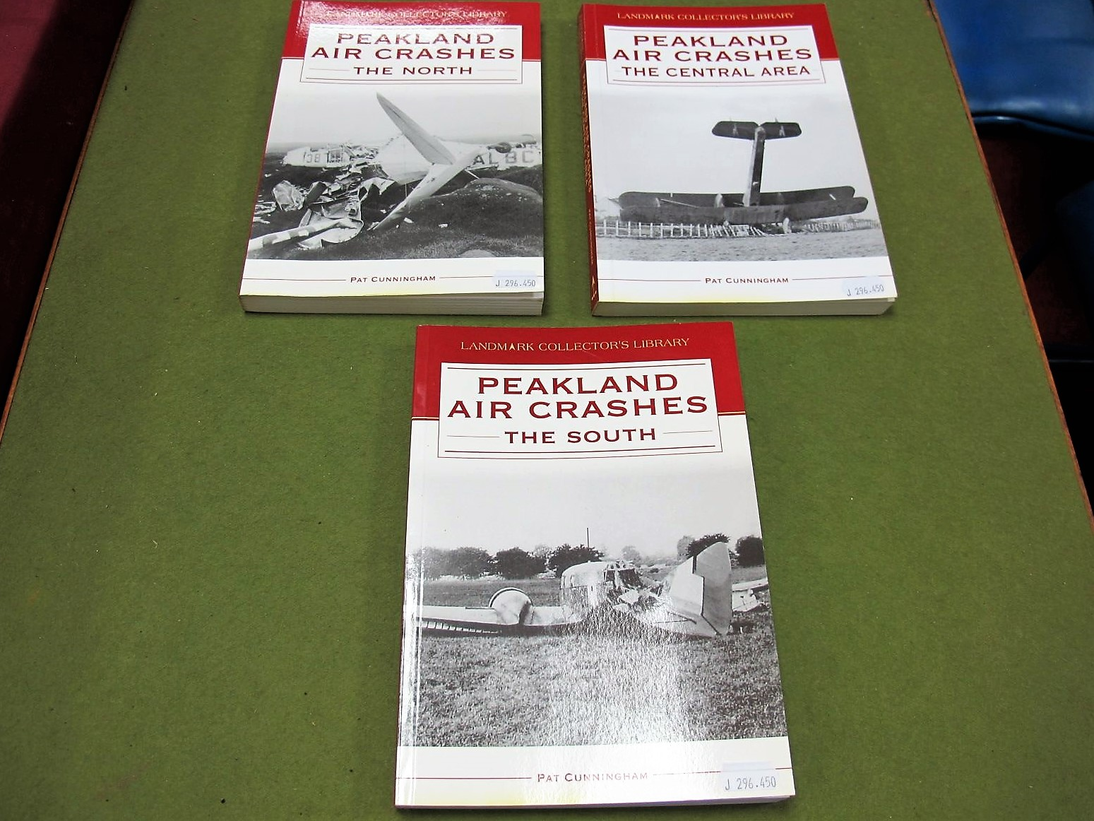 Lot 44 - Peakland Air Crashes by Pat Cunningham, three volumes in paperwork format, The North, The South, The