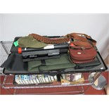 A Quantity of Twelve Bore Shotgun Associated Items, including Browning gun case, cartridge belt,