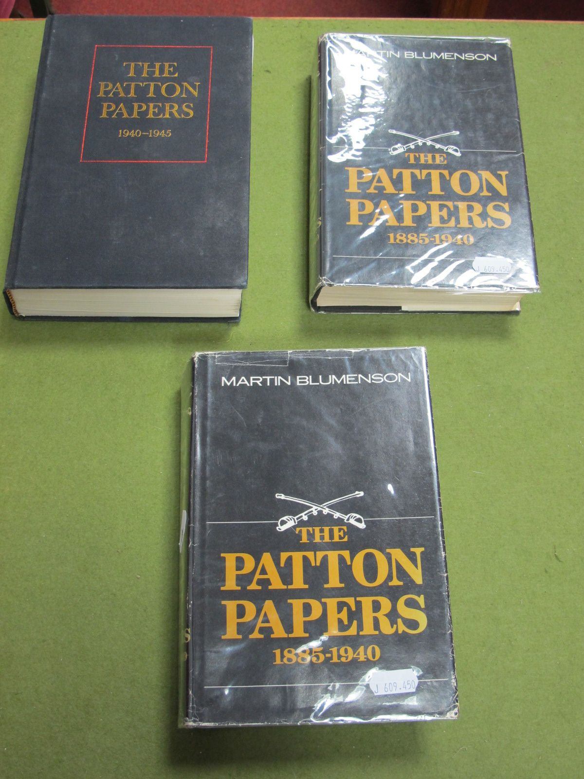 Lot 34 - Three Hardback Volumes of The Patton Papers, by Martin Blumenson published by Houghton Mifflin