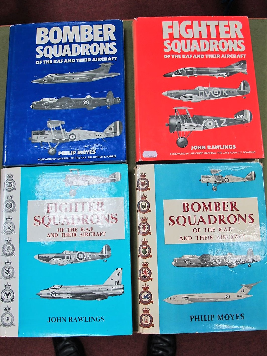 Lot 41 - Four Hardback Books MacDonalds, PBS, Fighter Squadrons of the RAF and Their Aircraft, 1969 and