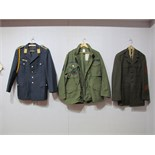 Two Late XX Century Military Jackets, eight American and a Civilian Airways jacket.