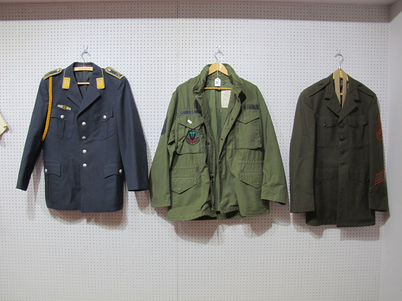 Lot 23 - Two Late XX Century Military Jackets, eight American and a Civilian Airways jacket.