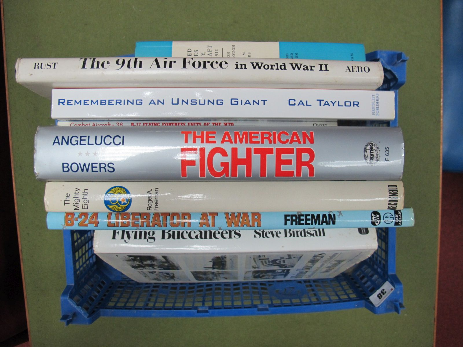 Lot 38 - A Collection of Eight Books All United States Air Force Themes, (both hardback and paperback)