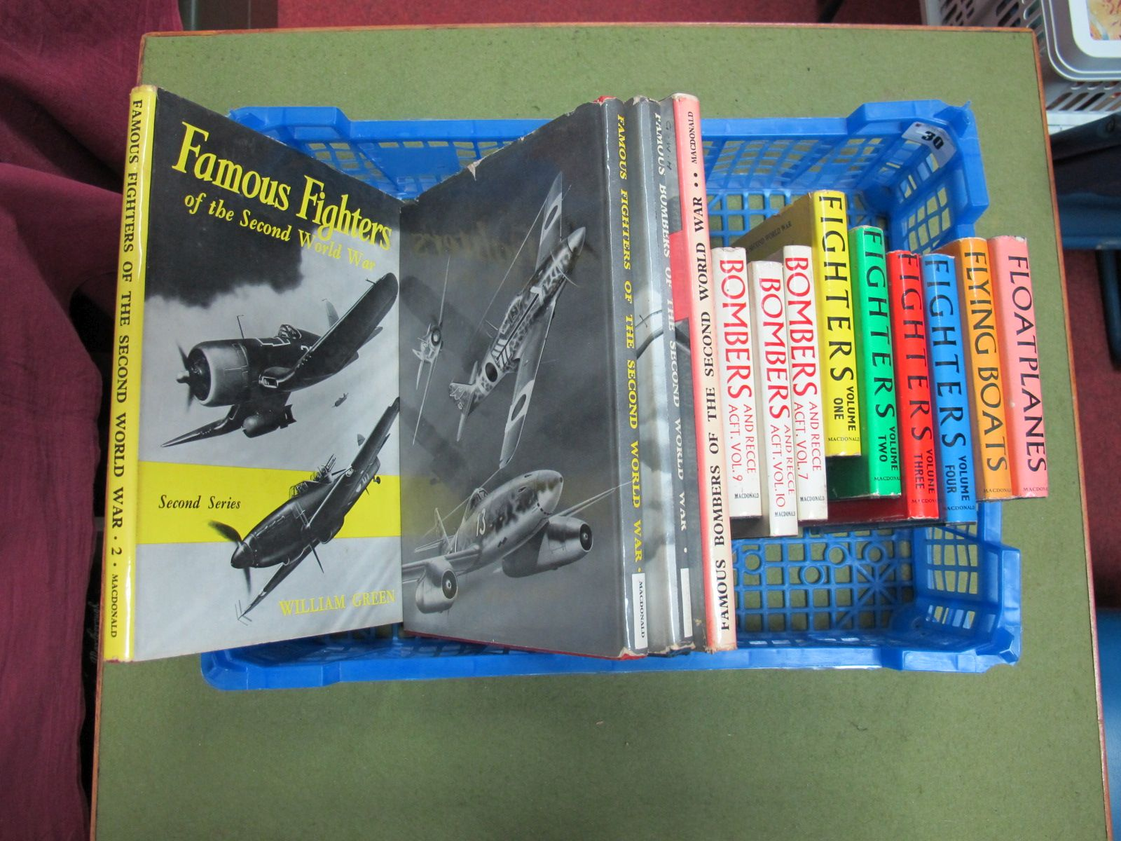 Lot 30 - A Collection of Ten Hardback Volumes Macdonald- War Planes of the Second World War, by William Green